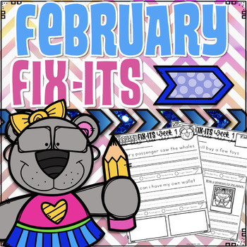 February Fix-It Sentences With Powerpoint