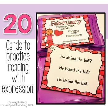 February Fluency Practice Task Cards