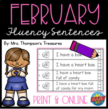 February Fluency Strips