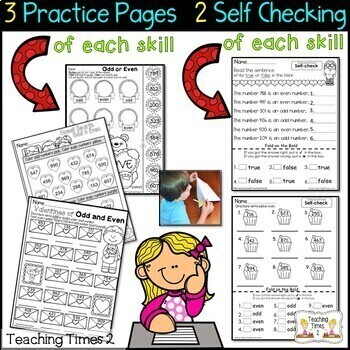 February FOLD ON THE BOLD (2nd Grade) Self Checking Math & Literacy Packet