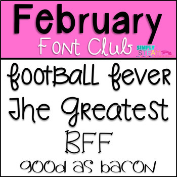 SB Fonts - February 2017 Font Club