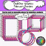 February Frames and Borders Clip Art