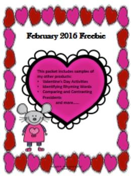 February Freebie 2016