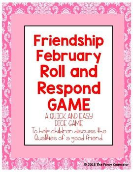 February Friendship Make Your Own Dice Game
