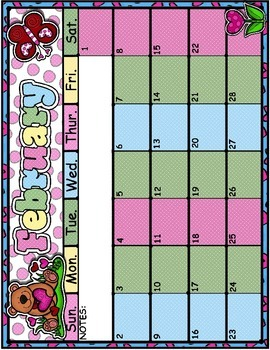 February Full Page Calendar