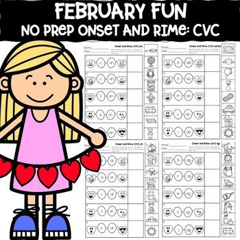 February Fun: CVC Onset and Rime