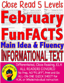 February Leap Year Fun FACTS CLOSE READ 5 LEVEL PASSAGES ALL-READERS-COVERED