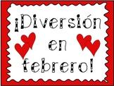 February Fun Pack! Spanish Copy (Literacy Workstation activities)