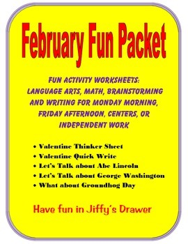 February Fun Packet