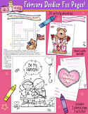 February Fun Pages - Coloring and Activity Download - Dist