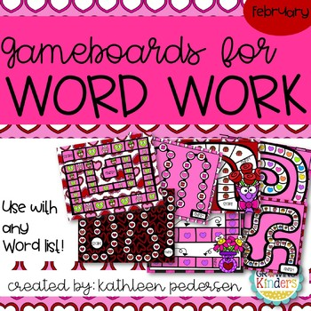 February Game Boards for ANY Word List!