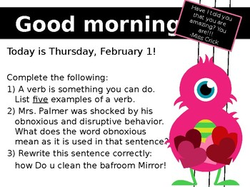 February Morning Powerpoint (1 Week)