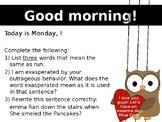 February Morning Powerpoint (1 Week)