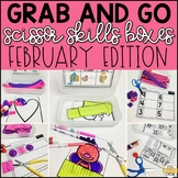 February Grab and Go Scissor Skills Activities