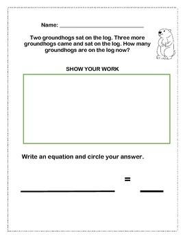 February Grade 1 Word Problems