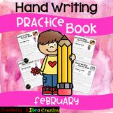 February Hand Writing Practice Book