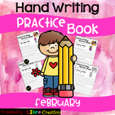 February Hand Writing Practice Book
