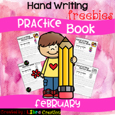 February Hand Writing Practice Book Freebies