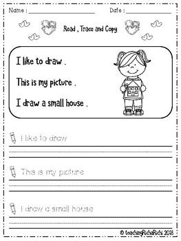February Handwriting Practice