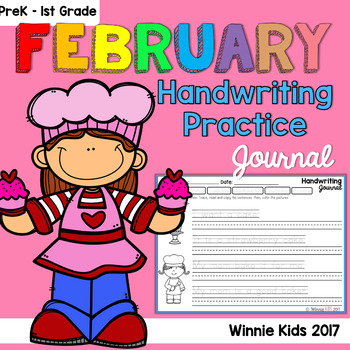 February Handwriting Practice Reading and Writing Fluency