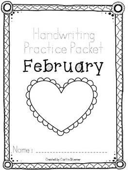 February Handwriting Review Packet