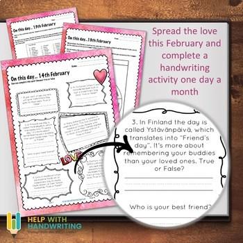 February Handwriting Workbook