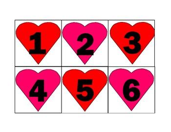February Heart Calendar Cards