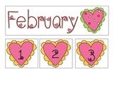 February Heart Calendar Set