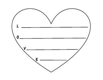 February Heart Writing Activity