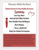 February Holds the Heart - Heart Healthy Project for Students (with Rubric)