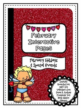 February {Winter} Holiday Interactive Notebook {Grades 3 - 5}
