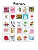 Valentine's Day (February Holidays) Bingo