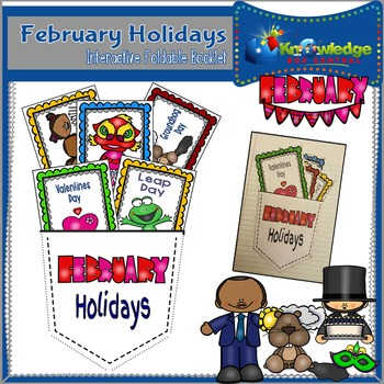February Holidays Interactive Foldable Booklet