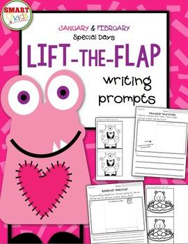 January & February Special Days Lift-the-Flap Writing Prompts