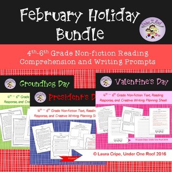 February Holidays Nonfiction Reading and Writing Bundle