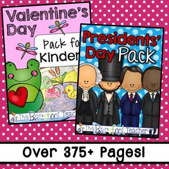 February Holidays Math & Literacy Activities