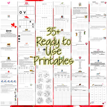 Third Grade Homework February {35+ NO PREP Printables & Editable Homework Menu}