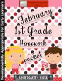 February Homework Packet: 1st Grade