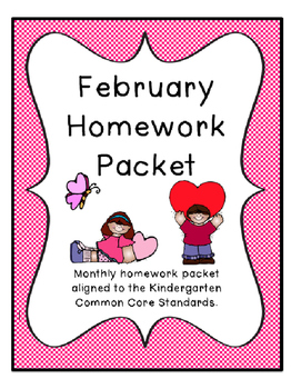 February Homework Packet with 1 week holiday
