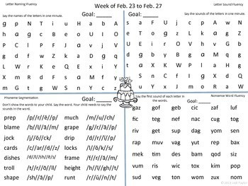 February Homework Practice for AIMSWEB or DIBELS