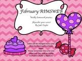 February Homework Practice for AIMSWEB or DIBELS