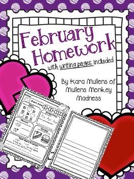February Homework Workbook
