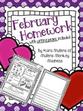 February Homework Workbook