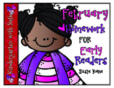 February Homework for Emergent Readers