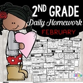 February Homework or Morning Work for 2nd Grade