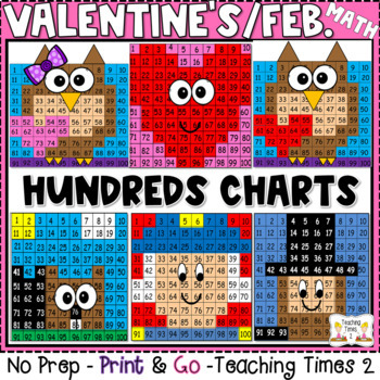 February Hundred Charts Hidden Pictures Fun Pack