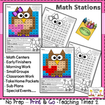 February Hundred Charts | MATH CENTERS | MATH REVIEW