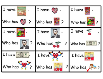 February I Have Who Has Cards