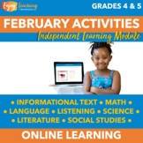 February Independent Learning Module (ILM) Valentine's Day Chromebook Activities