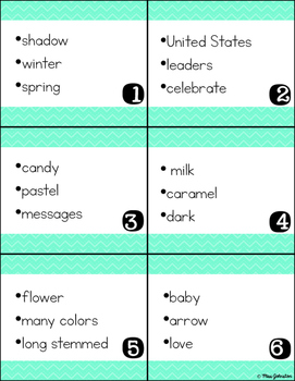 February Inferencing Task Cards
